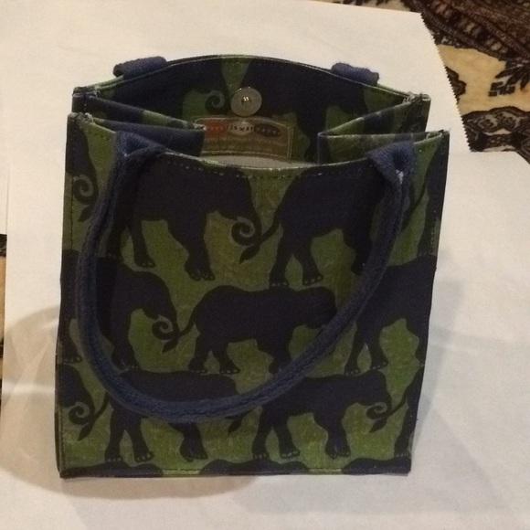 Rock Flower Paper Cotton Elephant Lunch Bag
